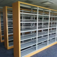 Used School Furniture 2 sides Shelves Racks Shelving Library Bookshelf