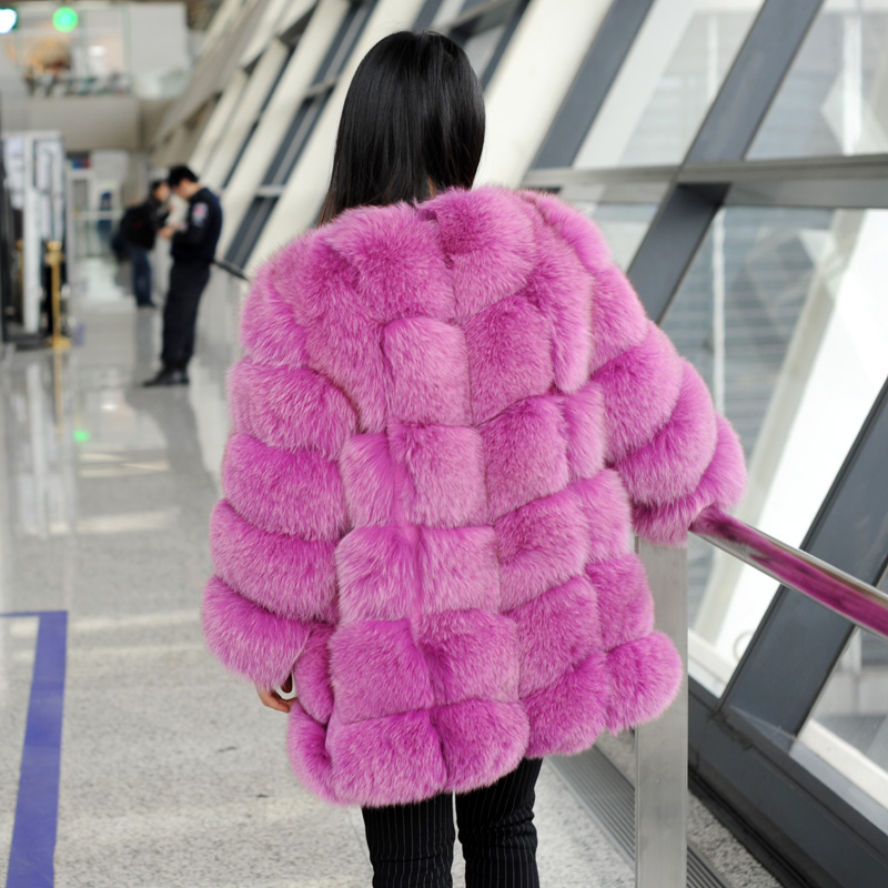 CX-G-A-108B New Style Winter Fox Fur Jacket Fashion Real Fox Fur Coat