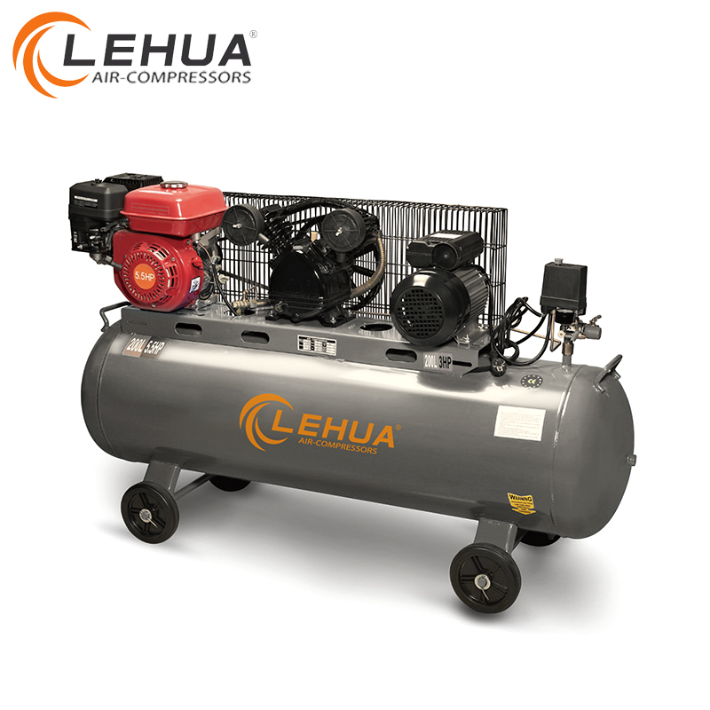 Top quality best price 0.8mpa honda engine air compressor 200l 300l