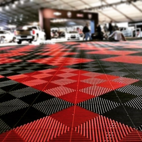 Removable interlocking pvc Garage Floor tiles , dalle pvc sol garage