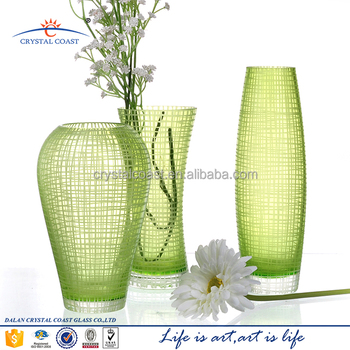 Hand Blown Home Goods Antique Green Glass Vases Buy Antique Green