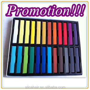 Promotion for 24 colors type hair chalk hair color chalk