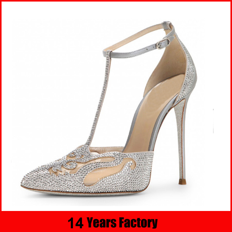 New Design Wholesale Fancy Elegant Rhinestone Pearl Ivory White Fabric Ladies Women Bridal Wedding shoes