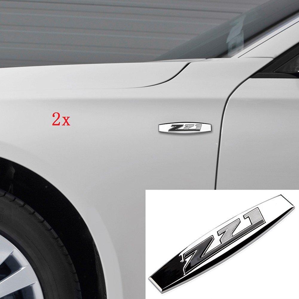 Yoaoo 2x oem chrome z71 emblems badge 3d decal for gmc chevy silverado sierra suburban