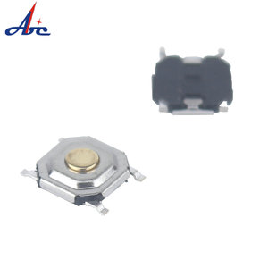 2 Pin Double Action IP54 Waterproof Micro Mini Tact Switch With Led Smd Normally Closed Tact 10A 250V AC