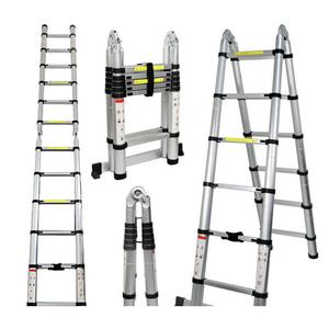 Aluminum Telescopic Ladder 2m,2.6m ,3.2m,3.8m,4.1m,4.4m