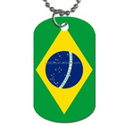 Brazil Flag 2-Sided Dog Tag Necklace Brazilian Gifts