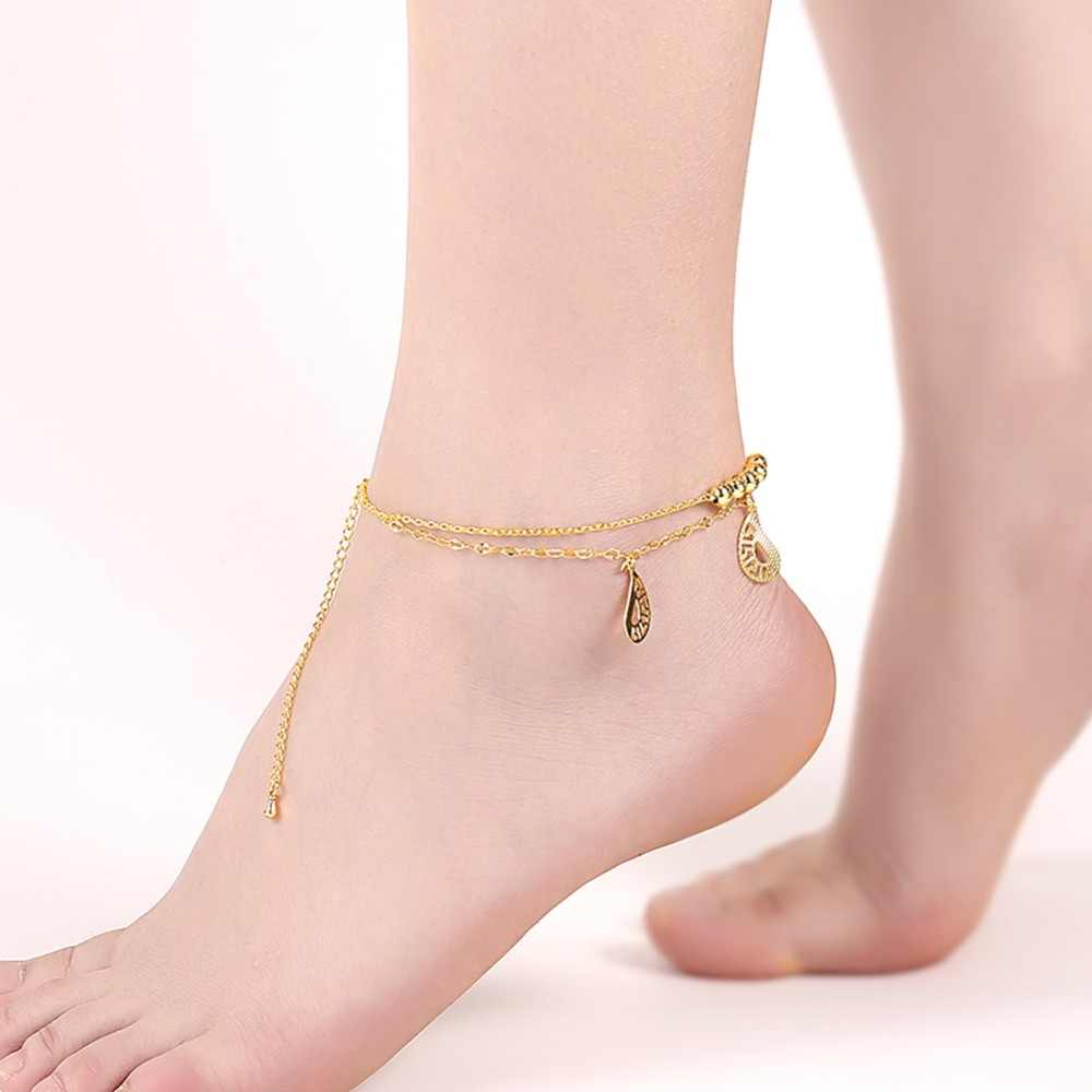 2017 new design pendant hotwife anklet jewelry