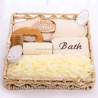 Natural Rattan Basket Body Care Spa Set Bath Shower Set