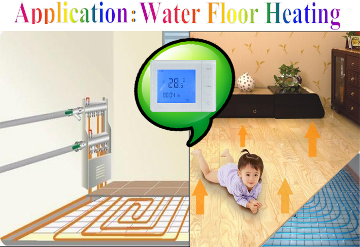 Touch Screen Flooring Water Heater Thermostat With Smart External ...