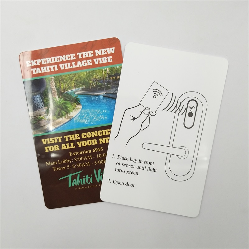 Free Sample! Custom design RFID hotel key card for door access control