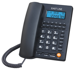 Caller ID Landline Telephone with Speakerphone and One Touch Speed Keys