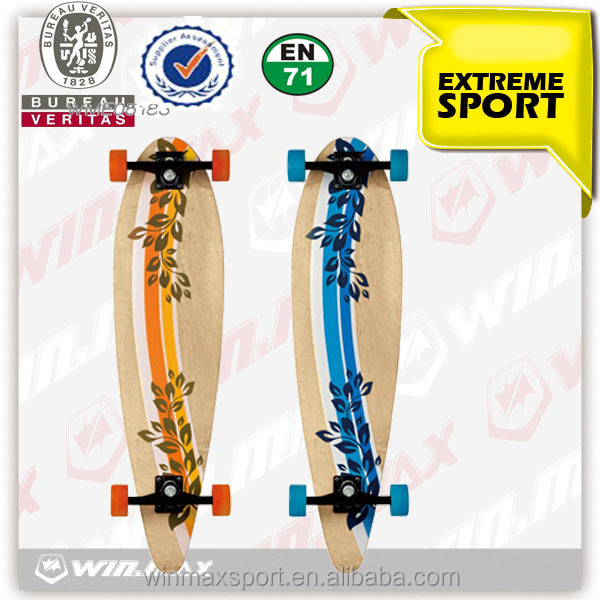 "7 ply Canadian maple skateboard Canadian maple PU wheel 36"" longboard skateboard blank skateboard decks"