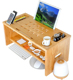Bamboo Desk Laptop Serving Bed Tray Tilting Top