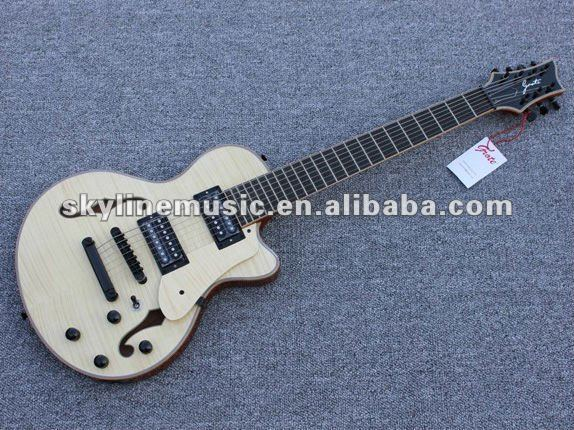 HJZ-710 7 string hollow body electric guitar