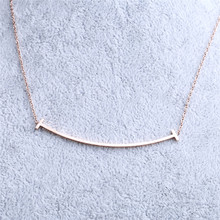 China supply fashion simple necklace , women all-match short titanium steel decorative clavicle chain jewelry