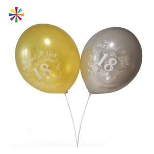 Wholesale Custom Printed Latex Free Cheap Round Letter Metallic Balloon