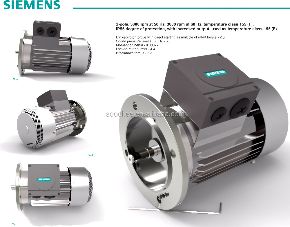Siemens 5 5kw 3 Phase Electric Motor For Belt Conveyor Machine