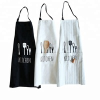 Newest custom printing japanese kitchen apron with pockets cooking apron for chef