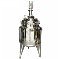 Stainless steel steam jacket heating vacuum pressure mixing tank with agitator