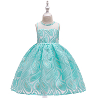 Children Latest Dress Wholesale Flower Girl Party Wear Birthday Kid Clothes Girls Dresses L5135
