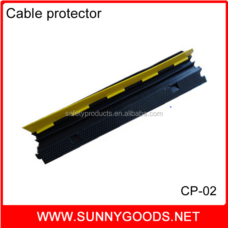 two channels heavy duty rubber cable guard