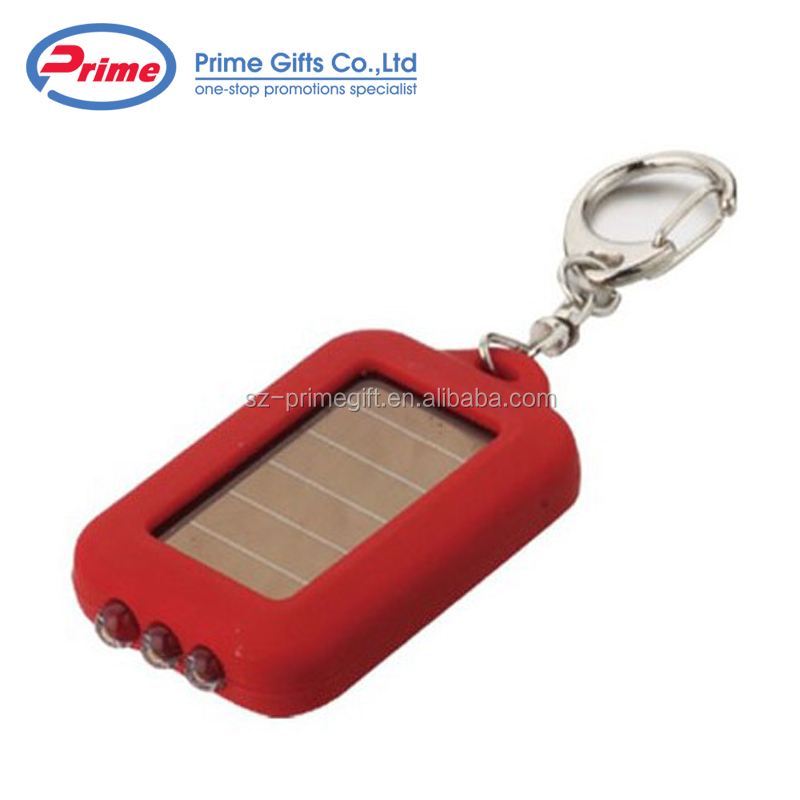 Custom Personalized Plastic Solar Keychain with Your Logo