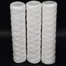 Popular pp string wound filter cartridge carbon block granular activated carbon cartridge filter for undersink home use RO