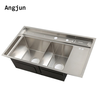 Pleasing Prices In India Durable Brushed Satin Different Double Bowl Basin Kitchen Bathroom Sink Countertop Shelf Buy Durable Brushed Satin Different Interior Design Ideas Truasarkarijobsexamcom