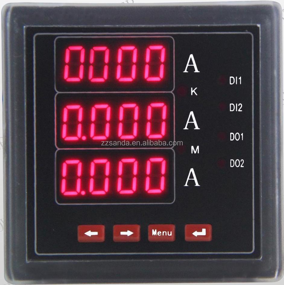 3 Phase Digital Ammeter Wiring Diagram Ac Red Led Display Dc