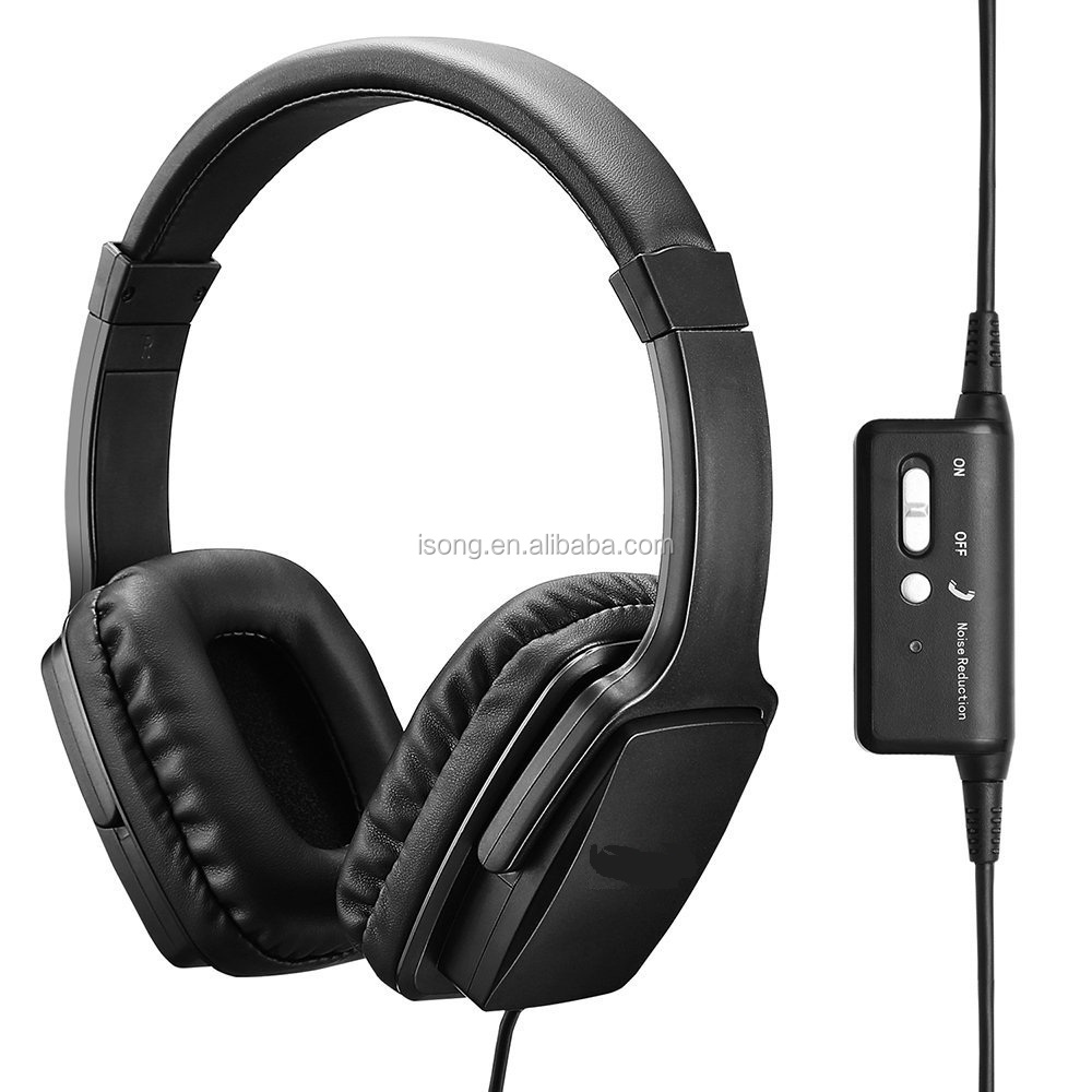 Cheap Christmas Gift 85% Active Noise Cancellation Headphone ANC Headset For Airplane