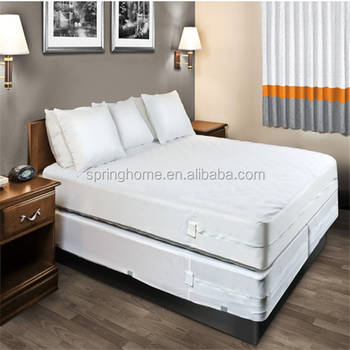 hotel use and 100% polyester material anti bed bug mattress cover