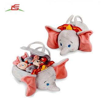 Venta Al Por Mayor Dumbo Tsum Tienda Conjunto De Peluche Pequeño Tote Como Caja De Juguete Para Niños Buy Dumbo Tote,Dumbo Tote De Felpa,Dumbo Tote