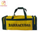 Polyester sports team personalized full color cheap custom heat transfer print duffle bag