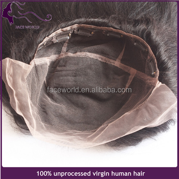 Customized special made 13x8 inch virgin remy human hair lace front closure