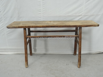 Elm Wood Antique Long Console Table