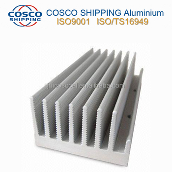 6060 Aluminum alloy heat sink with Black Anodizing
