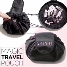 Latest magic drawstring cosmetic travel pouch bag for girls and ladies