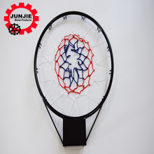 factory price new style basketball backboard steel ring spring with 3 color net