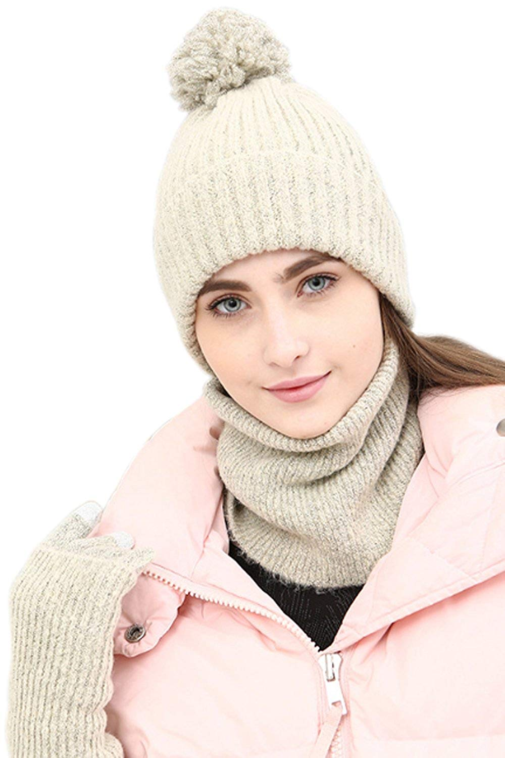 Womens Winter Hat Scarf And Glove Sets