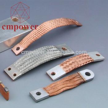 Made In China Flexible Copper Braid Flat Tinned Braided
