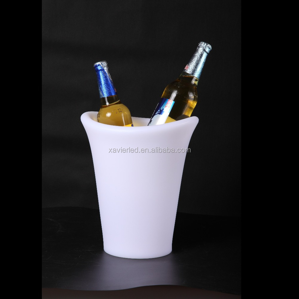 XV-2528-ICB LED illuminated ice bucket/Rotational moulding eco-friendly PE plastic ice bukcet/LED Ice cooler