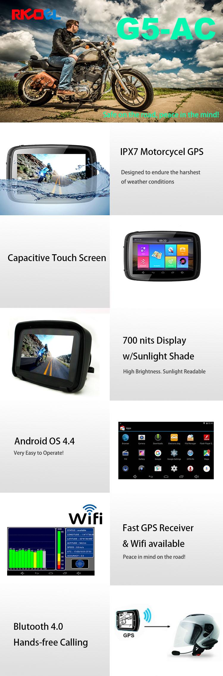 Ipx7 Waterproof Motorcycle Gps Navigator 5 Inch Touch Screen Marine Gps  Monitor Ip67 - Buy Waterproof Touch Screen Monitor Ip67,Touch Screen Marine