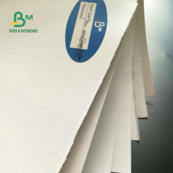 2018 recyclable white  300gsm woodfree paper   for making paper bags
