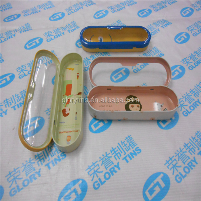 Factory Direct Provide Innovative Different Sizes Metal Tin Pencil Case