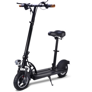 Fat tire 500w 800w 10 inch two wheel high speed 1000w dual motor electric scooter with seat for adults