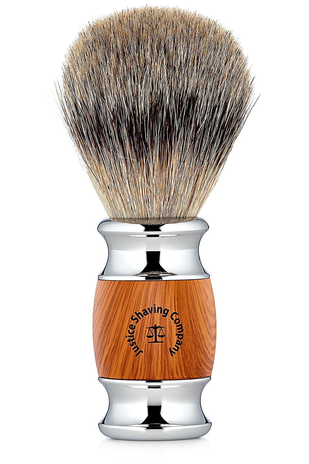 Justice Shaving Company's Super Badger Hair Shaving Brush - You Deserve a Premium Shaving Experience - An Elite Badger Shave Brush at an Affordable Price
