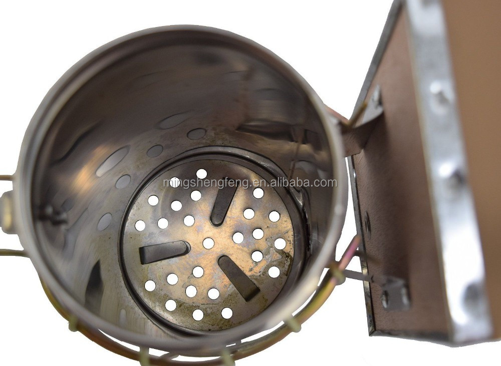 top quality regular stainless steel bee smoker with heat shield