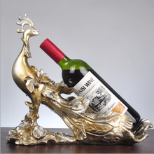 Peacock wine rack decoration home living room decoration crafts wine cabinet display housewarming wedding gifts