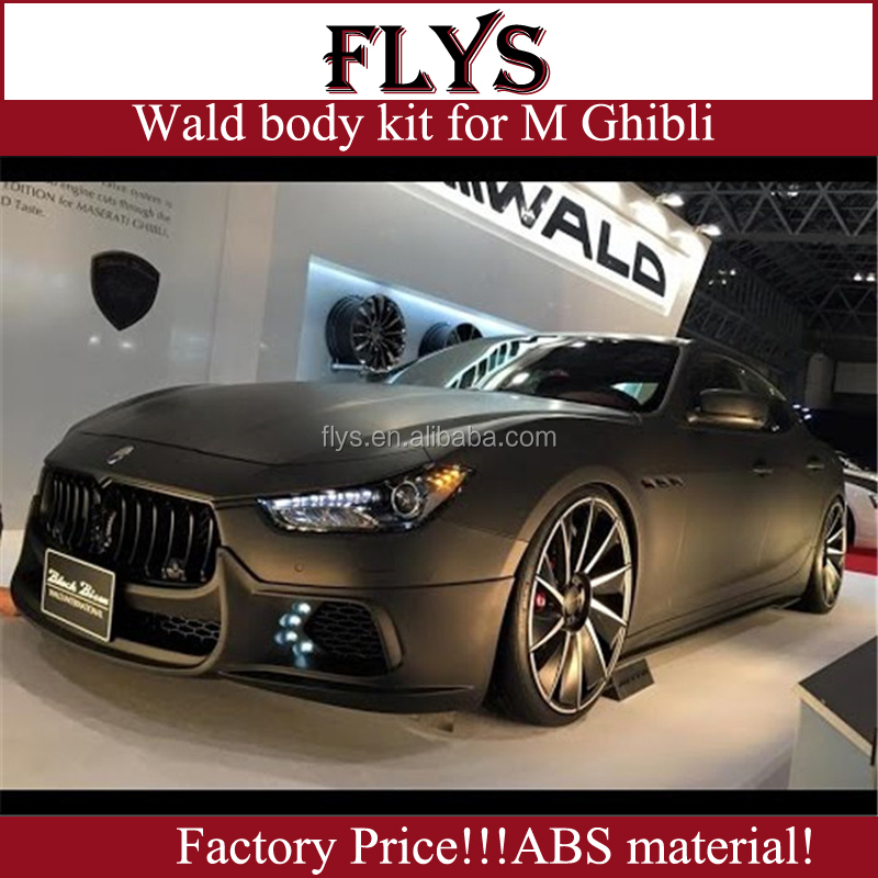 wald body kits fit for Maserati Ghibli style changing into wald for maserati ghibli. Plastic materiall!!!Factory Price!!!
